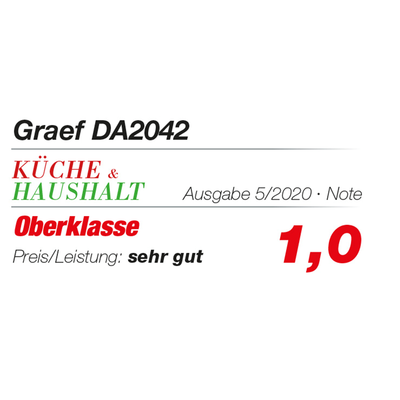 Graef Mini-Dörrautomat DA2042EU - Kueche&Haushalt_05-2020_Testlogo