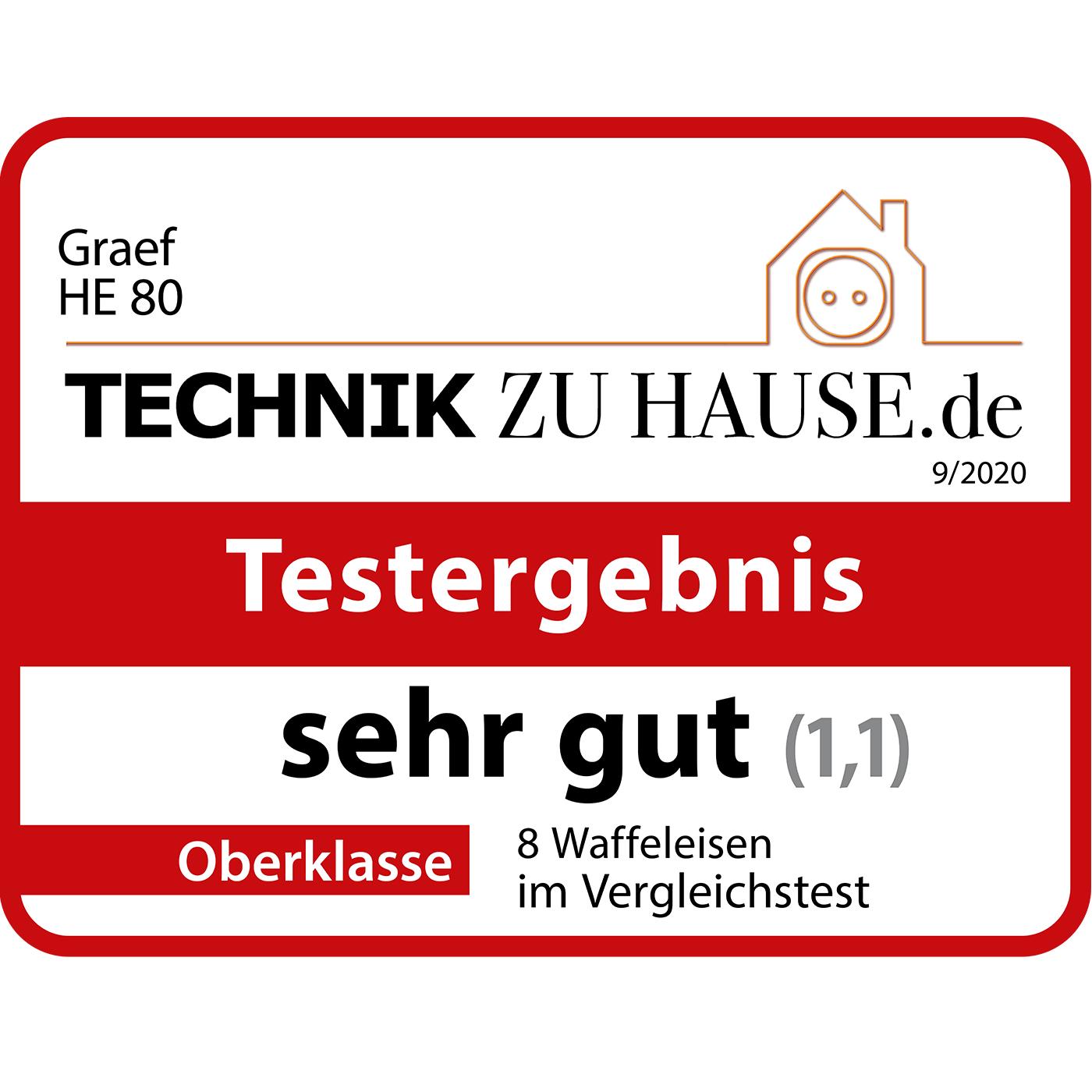 Graef Hörncheneisen HE80EU - Technikzuhause.de (09/2020) - Testlogo