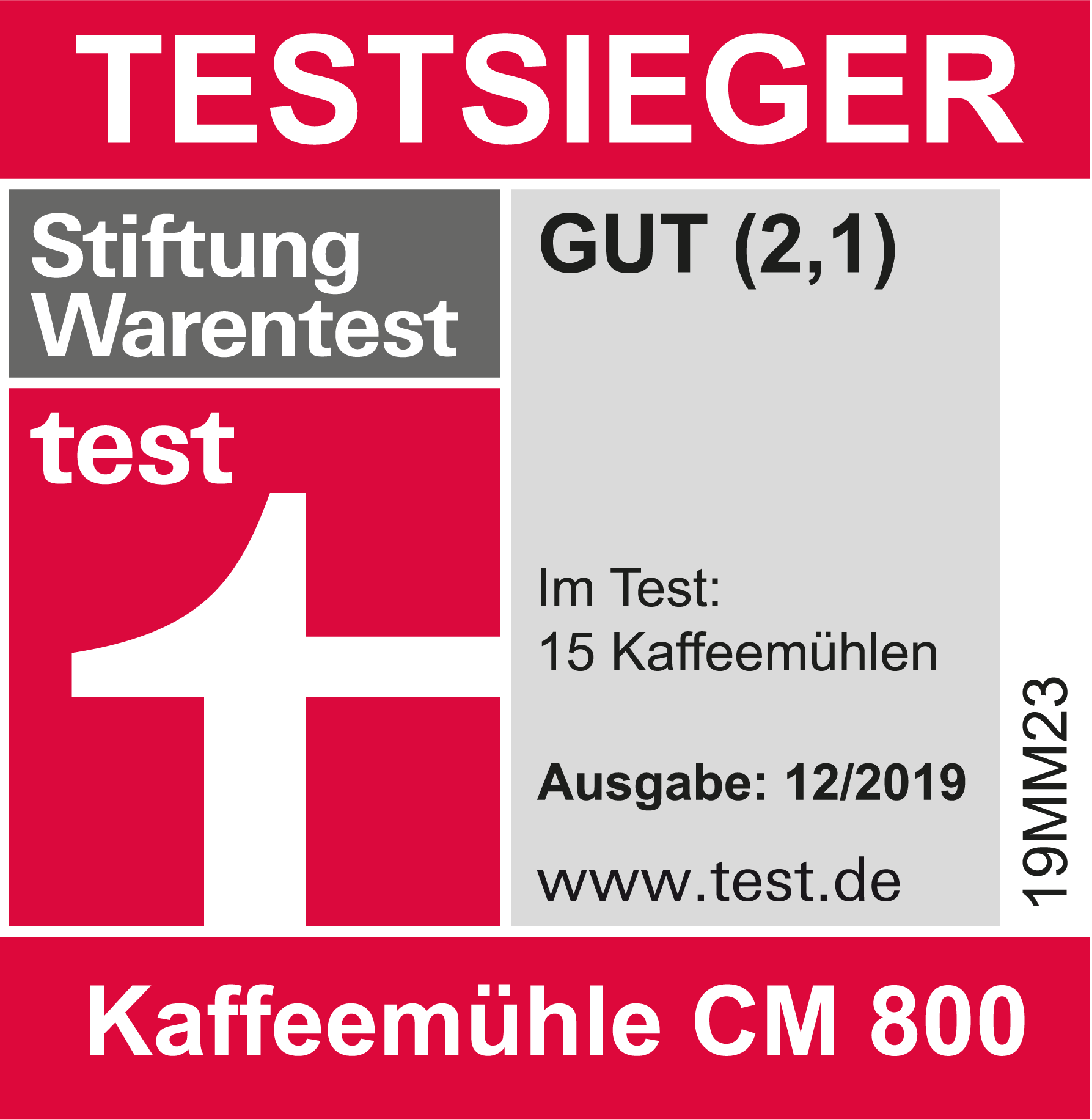 Stiftung Warentest Testsieger Graef CM 800
