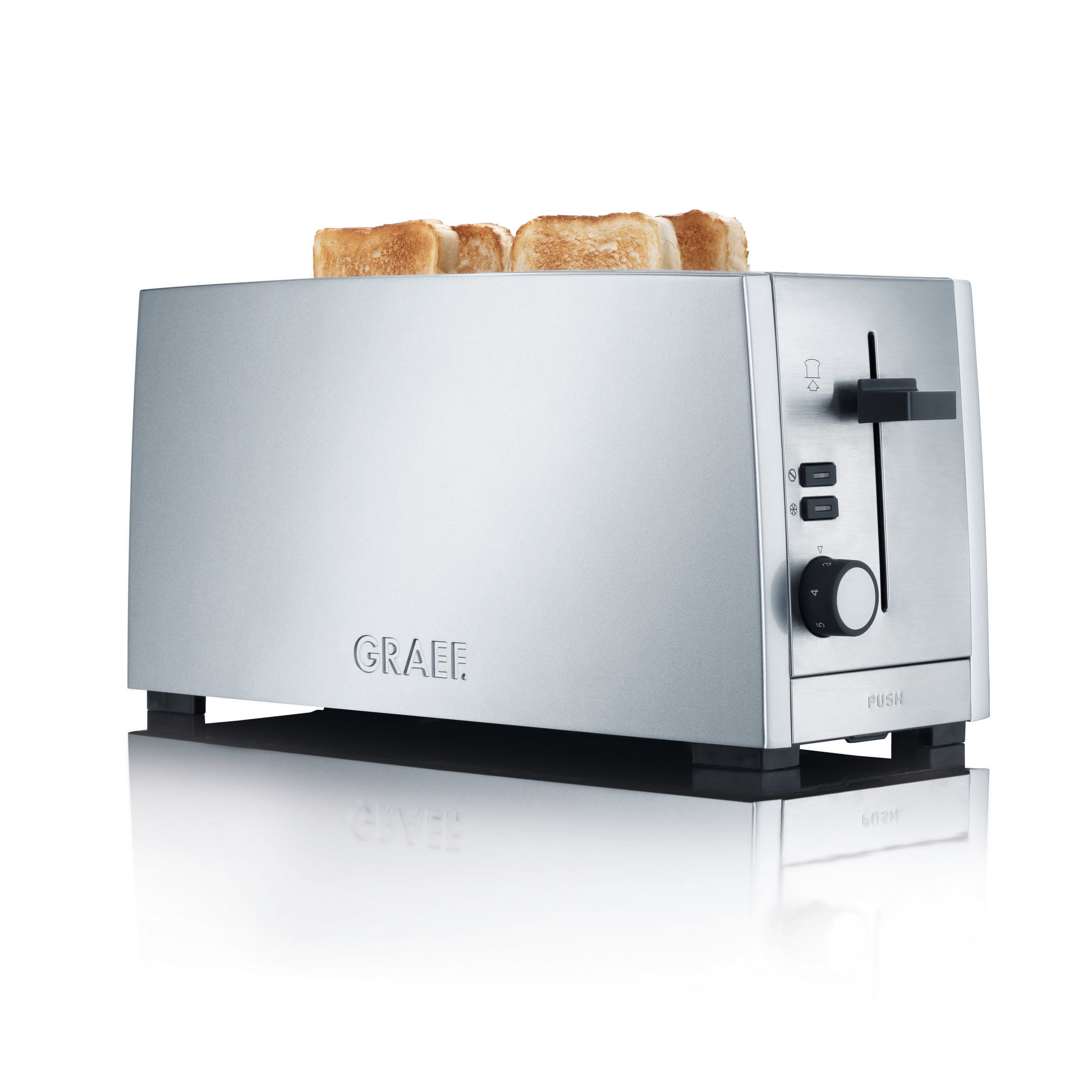4 Slices toaster TO 100 The toaster for the whole family