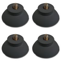 Rubber feet, suitable Manuale H 9 / H 91 / H 93 / AL 760 ensure a firm stand on every surface; with M6 thread;  4 units