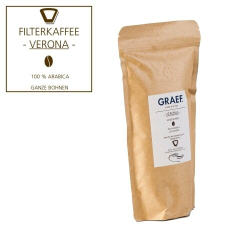 Filterkaffee VERONA, 250g ganze Bohne (100% Arabica)