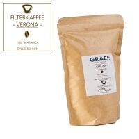 Filterkaffee VERONA, 500g ganze Bohne (100% Arabica)
