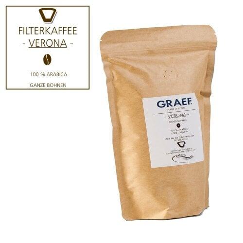 Filterkaffee VERONA, 500 g ganze Bohne (100 % Arabica)