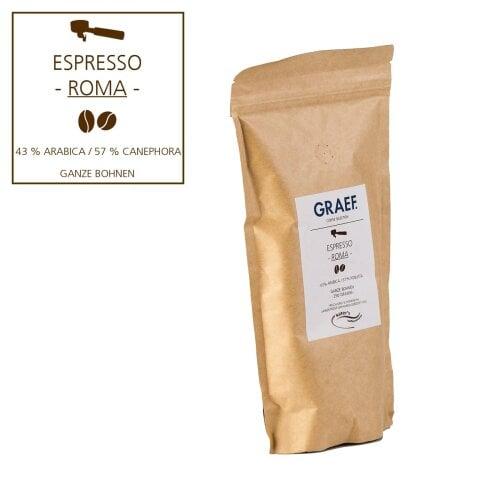 Espresso ROMA, 250 g ganze Bohne (43 % Arabica, 57 % Robusta)