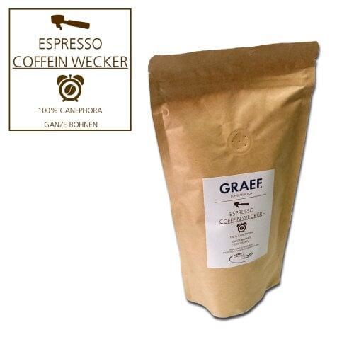 Espresso Coffein wake up, 250g whole bean (100% Robusta)