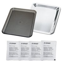 Set of 2 trays for universal slicer vaseline included