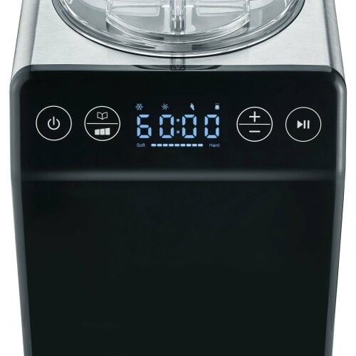 Eismaschine IM700, Edelstahl-schwarz 2 in 1 mit Joghurtfunktion