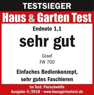 Testlogo_HausGarten_Test_04-2018_Graef_Fleischwolf_FW_700