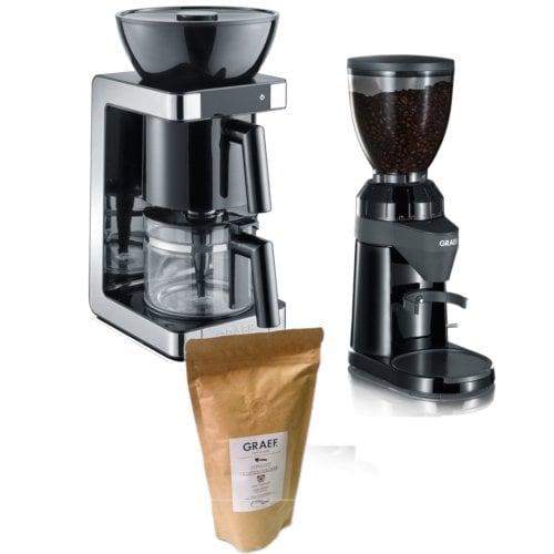 Kaffeemaschine & Kaffeemühle Set inklusive Kaffee