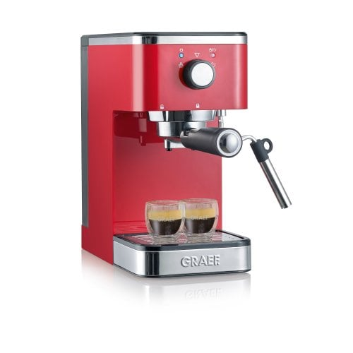 Espresso machine salita red Great in small format!