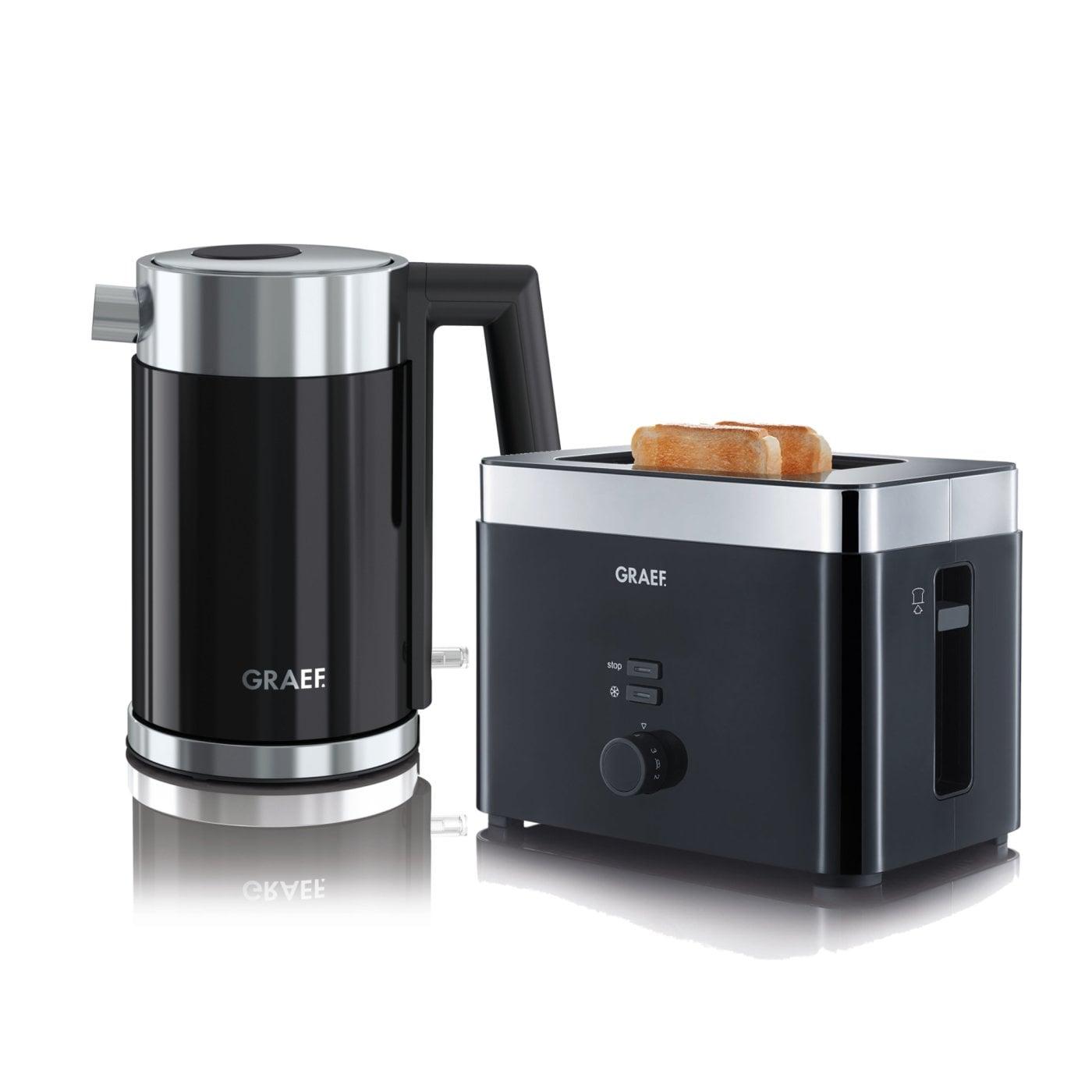 set wasserkocher toaster wk402eu und to62eu graef. Black Bedroom Furniture Sets. Home Design Ideas