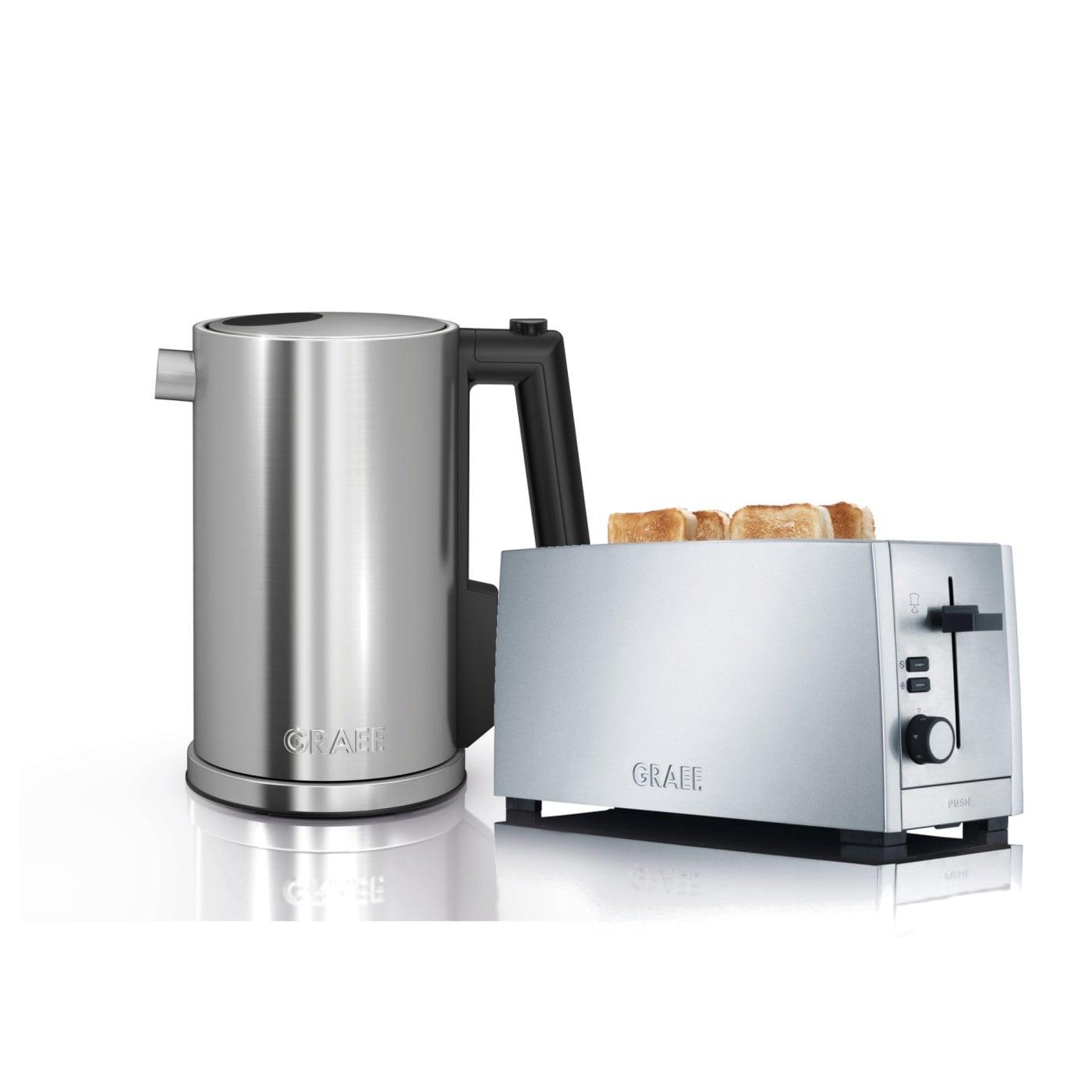 set wasserkocher toaster wk900eu und to100eu graef. Black Bedroom Furniture Sets. Home Design Ideas