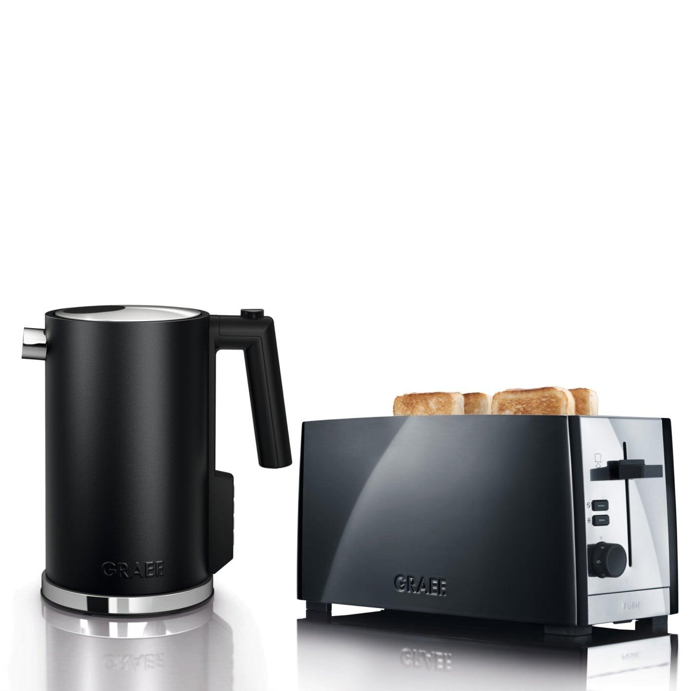 set wasserkocher toaster wk902eu und to102eu graef. Black Bedroom Furniture Sets. Home Design Ideas