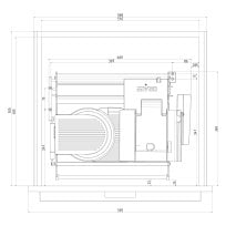 Drawer-solution for slicer UNA 90 - UNA 98